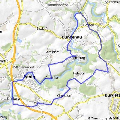 Von Lunzenau über Burgstädt nach Penig