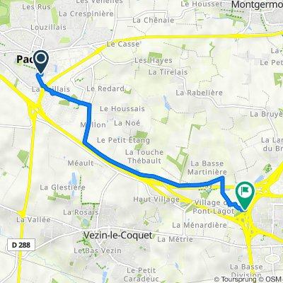Itinéraire à partir de 3 Rue Jean-Baptiste Guérin, Pacé