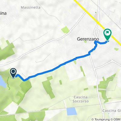 Percorso per Via Dante Alighieri 41, Gerenzano