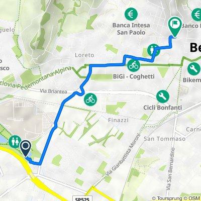 SPexSS671A, Bergamo to Via Giuseppe Garibaldi 14/A, Bergamo