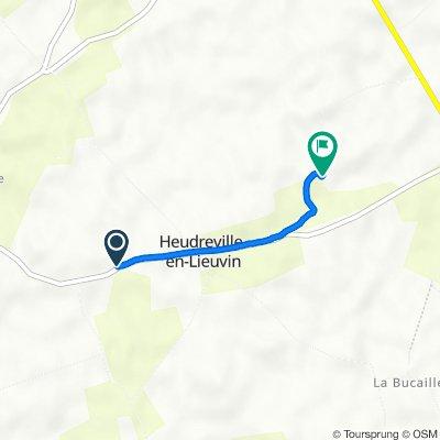 De La Grande Rue, Heudreville-en-Lieuvin à 2 Rue du Plessis, Heudreville-en-Lieuvin