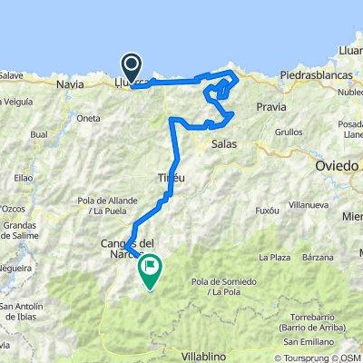 Luarca-Sigueiru 5100 m en 182 km (4700 en 137)