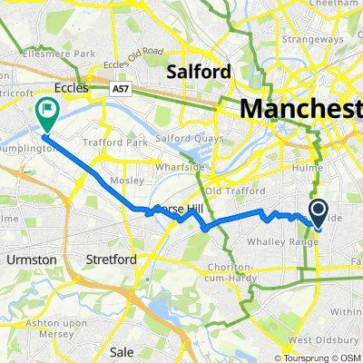 От 154 Beresford St, Manchester до 40 Ashburton Road W, Trafford Park, Manchester