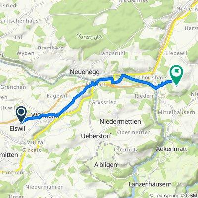 Elswil 69, Wünnewil nach Oberriedgässli 6, Niederscherli