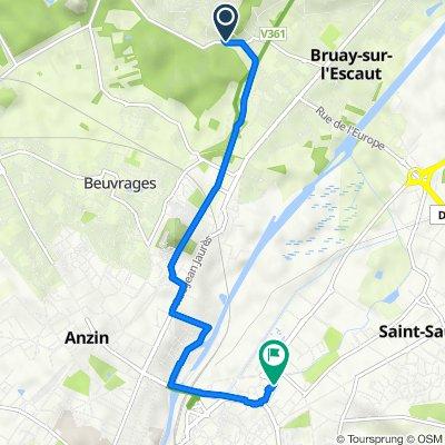 De 1A Rue Casimir Perier, Bruay-sur-l'Escaut à 16 Rue des Cent Têtes, Valenciennes