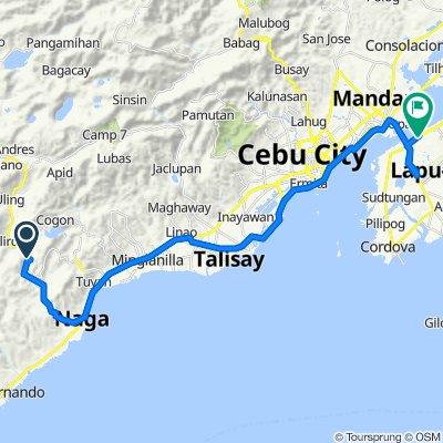 Uling-Naga Road, Naga City to Quezon National Highway, Lapu-Lapu City