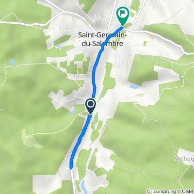 De D44, Saint-Germain-du-Salembre à 155 Rue du Moulin, Saint-Germain-du-Salembre