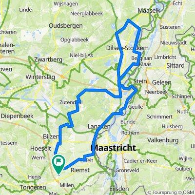 N/ 100km - 500hm - Tocht naar Elen van kanalen en Maas