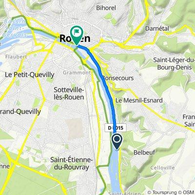 De 8 Route de Paris, Belbeuf à Voie sur Berge, Rouen