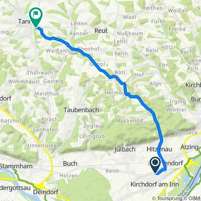 Herzog-Albrecht-Straße 7, Kirchdorf am Inn nach Eichhornsecker Straße 291/4, Tann