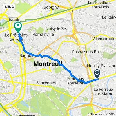 De 26 Rue Cristino Garcia, Le Perreux-sur-Marne à 28 Rue Gabriel Péri, Le Pré-Saint-Gervais