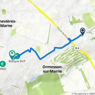 De 11 Avenue de l'Hippodrome, La Queue-en-Brie à 141 Rue du Centre, Ormesson-sur-Marne