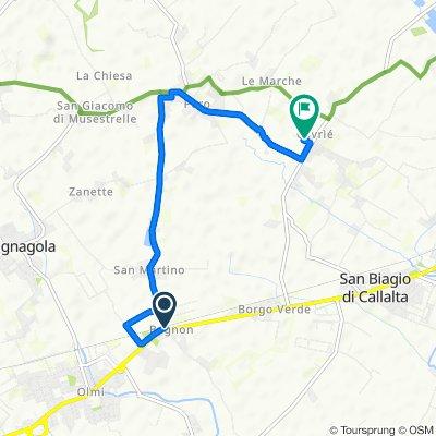 Da Via San Martino 1, Bagnon a Via Paganini 4/A, Cavriè