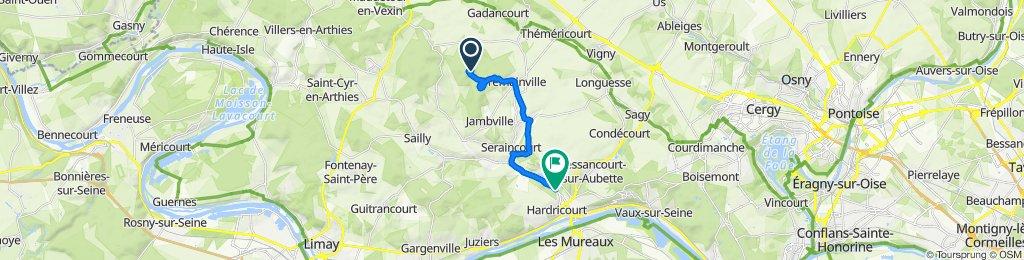 Itinéraire vers 122 Rue du Vexin, Hardricourt