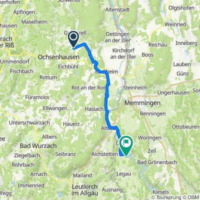 Gutenzeller Straße 19/2, Ochsenhausen nach Kirchhof 4, Legau