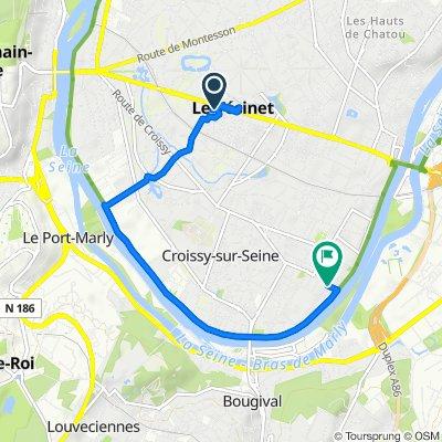 De 30 Rue du Marché, Le Vésinet à Rue Péron, Croissy-sur-Seine