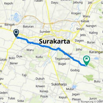 Unnamed Road, Kecamatan Kartasura to Alas Karet Polokarto, Kecamatan Polokarto