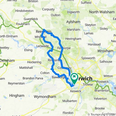 35 mile Norwich Reepham loop