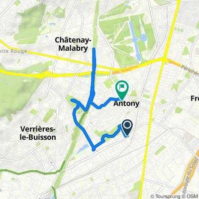 De 67 Avenue Jean Monnet, Antony à 16 Rue des Champs, Antony