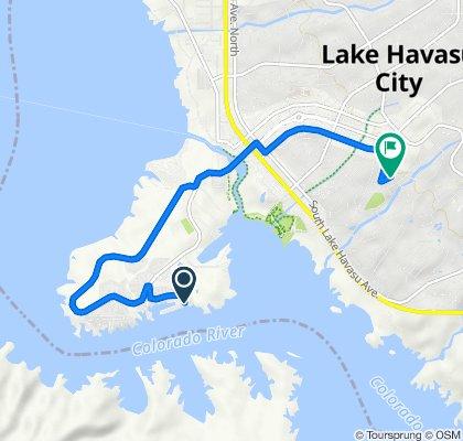 751 Beachcomber Blvd, Lake Havasu City to 2148 Rover Dr, Lake Havasu City