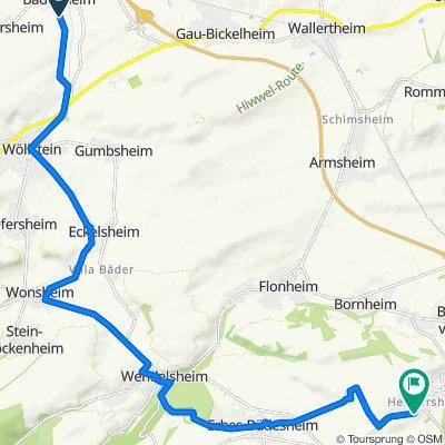 Route nach Erbes-Büdesheimer-Straße 17B–29, Alzey