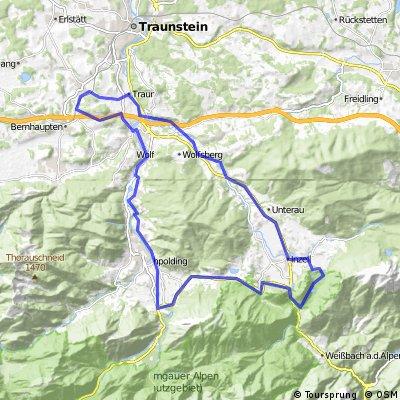 Vachendorf - Inzell - Falkenstein - Ruhpolding - Siegsdorf - Vachendorf