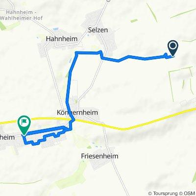 Route nach Schubertstraße 2–4, Undenheim