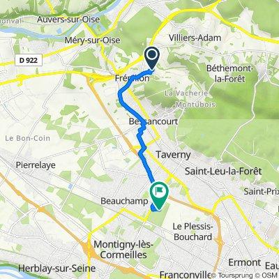 De 6 Placette de Savoie, Frépillon à Chemin de la Porte Noire, Taverny