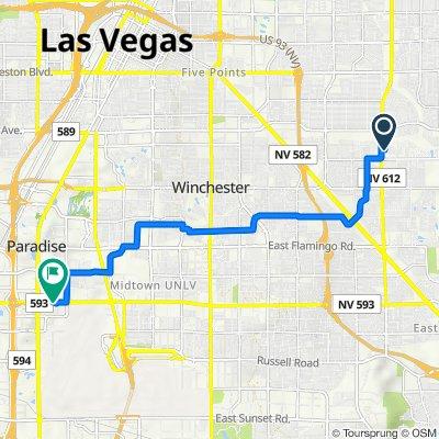 5075 Spyglass Hill Dr, Las Vegas to 115 E Tropicana Ave, Las Vegas
