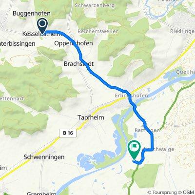 St2221 24, Bissingen nach Ludwigsschwaige 1, Buttenwiesen
