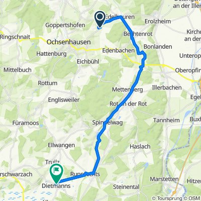 Martinusweg 17, Ochsenhausen nach Sankt-Margaretha-Weg 6, Bad Wurzach