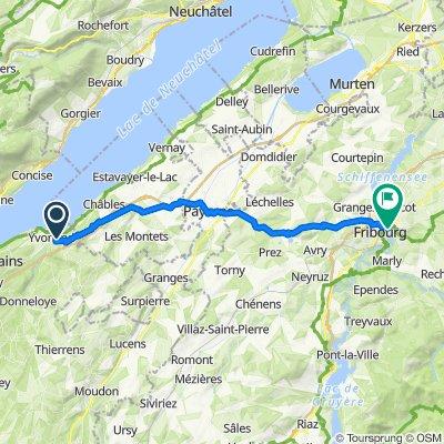 De Rue de Treysala 18, Yvonand à Route des Alpes 2–6, Fribourg