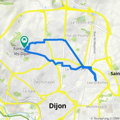 De 7 Rue de Belle Vue, Fontaine-lès-Dijon à 7 Rue de Belle Vue, Fontaine-lès-Dijon