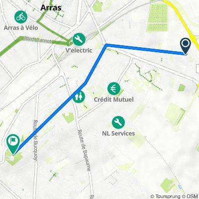 De 76 Rue de Bruxelles, Arras à 6 Rue du Caumont, Achicourt