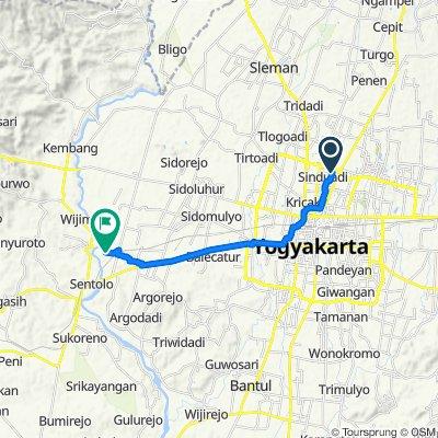 Route from Jalan Pandega Bakti No. 7A, Condong Catur