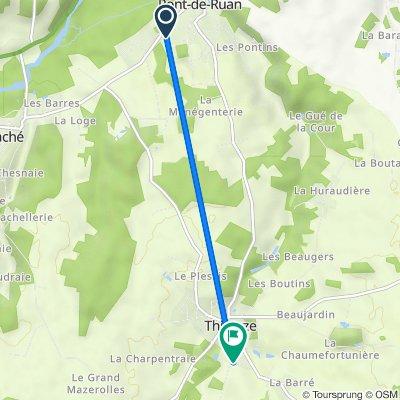 21 Rue de la Croix Billette, Saché to 22 Rue Croix Saint-Charles, Thilouze