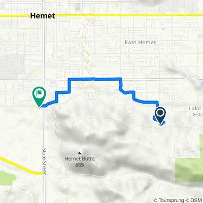 41810 Vermont St, Hemet to 291 W Chambers St, Hemet