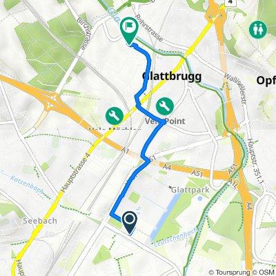 Wright-Strasse 50, Opfikon to Europa-Strasse 1, Opfikon