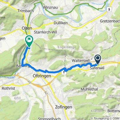 Güterstrasse 1, Safenwil nach Oltnerstrasse 109, Aarburg