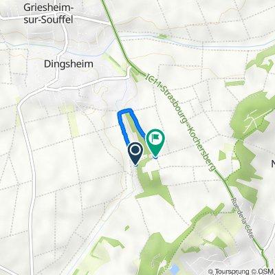 De Stadtweg, Oberhausbergen à Unnamed Road, Griesheim-sur-Souffel