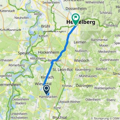 Brahmsweg 8, Hambrücken nach Langer Anger 7, Heidelberg