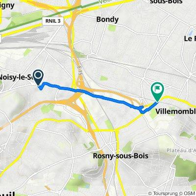 De 3 Rue de Neuilly, Noisy-le-Sec à 1 Rue Villebois-Mareuil, Villemomble