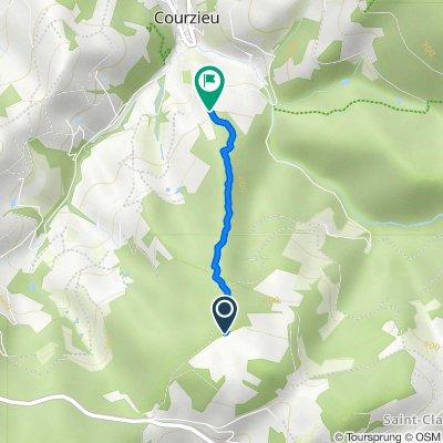 De Unnamed Road, Courzieu à La Roue 5, Courzieu