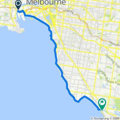 Bay Trail, Port Melbourne to Governor Road, Mordialloc