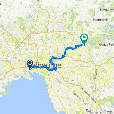 218 Lorimer Street, Port Melbourne to Main Yarra Trail, Templestowe