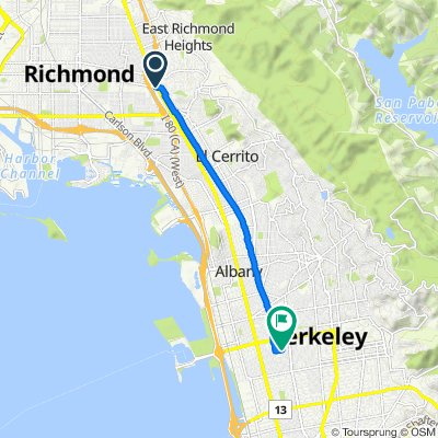 4838 W Macdonald Ave, Richmond to 1401 Allston Way, Berkeley