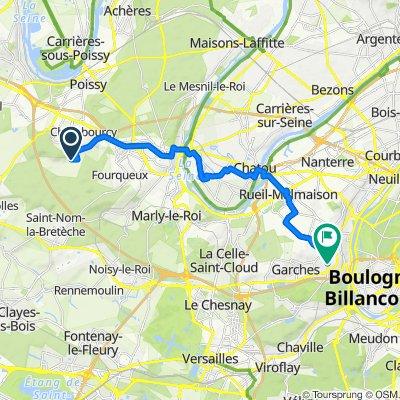 4 Chemin de la Tuilerie, Chambourcy to 16 Rue Pigache, Saint-Cloud