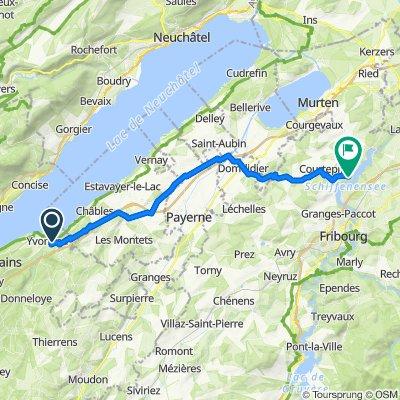 De Rue de Treysala 20–32, Yvonand à Route de Barberêche 67, Barberêche
