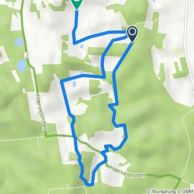 Blå rute, Dybvad to Damsigvej, Dybvad