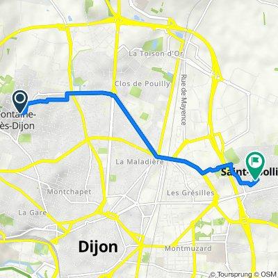 De 7 Rue de Belle Vue, Fontaine-lès-Dijon à 109 Rue Saint-Jean, Saint-Apollinaire